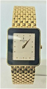 New Solid 18k Yellow Gold JUVENIA Unisex watch Ref