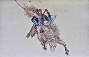 Yoshitoshi: Painting, Soga no Goro