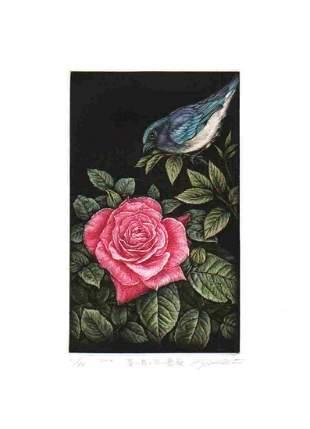 KOJI IKUTA (b. 1953) - BLUE BIRD AND ROSE