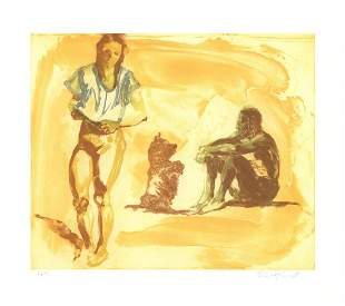 Eric Fischl: Beach Scene with Poodle