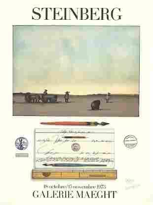 Saul Steinberg: Crayon Et Paysage