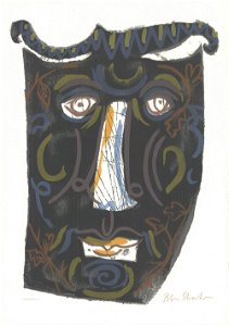 Ben Shahn: Mask (The Mask of the Women with the Comb)