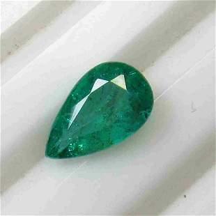 1.66 Ctw Natural Zambian Emerald Pear Cut