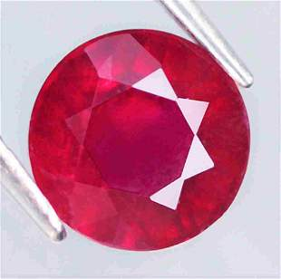 1,17 cts Natural Round Blood Red Ruby