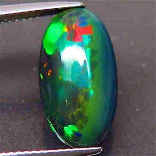 Natural Rainbow Black Opal-4,15 ct 1,2