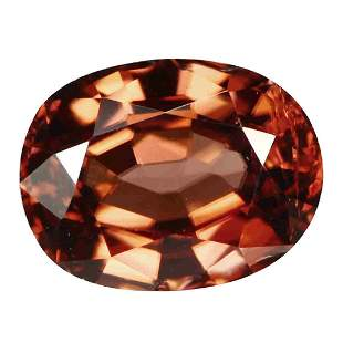 2.02Ct Excellent Oval cut 8 x 6 mm AAA Natural Brownish