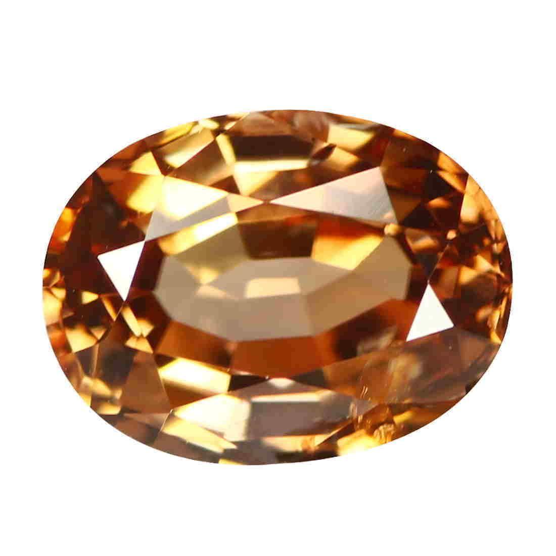 2.16Ct Oval cut 8 x 6 mm AAA 100% Natural Brown Zircon