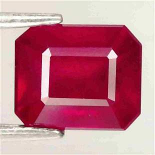 2,70 cts Natural Octagon Blood Red ruby