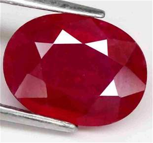 2,40 cts Natural Oval Blood Red Ruby