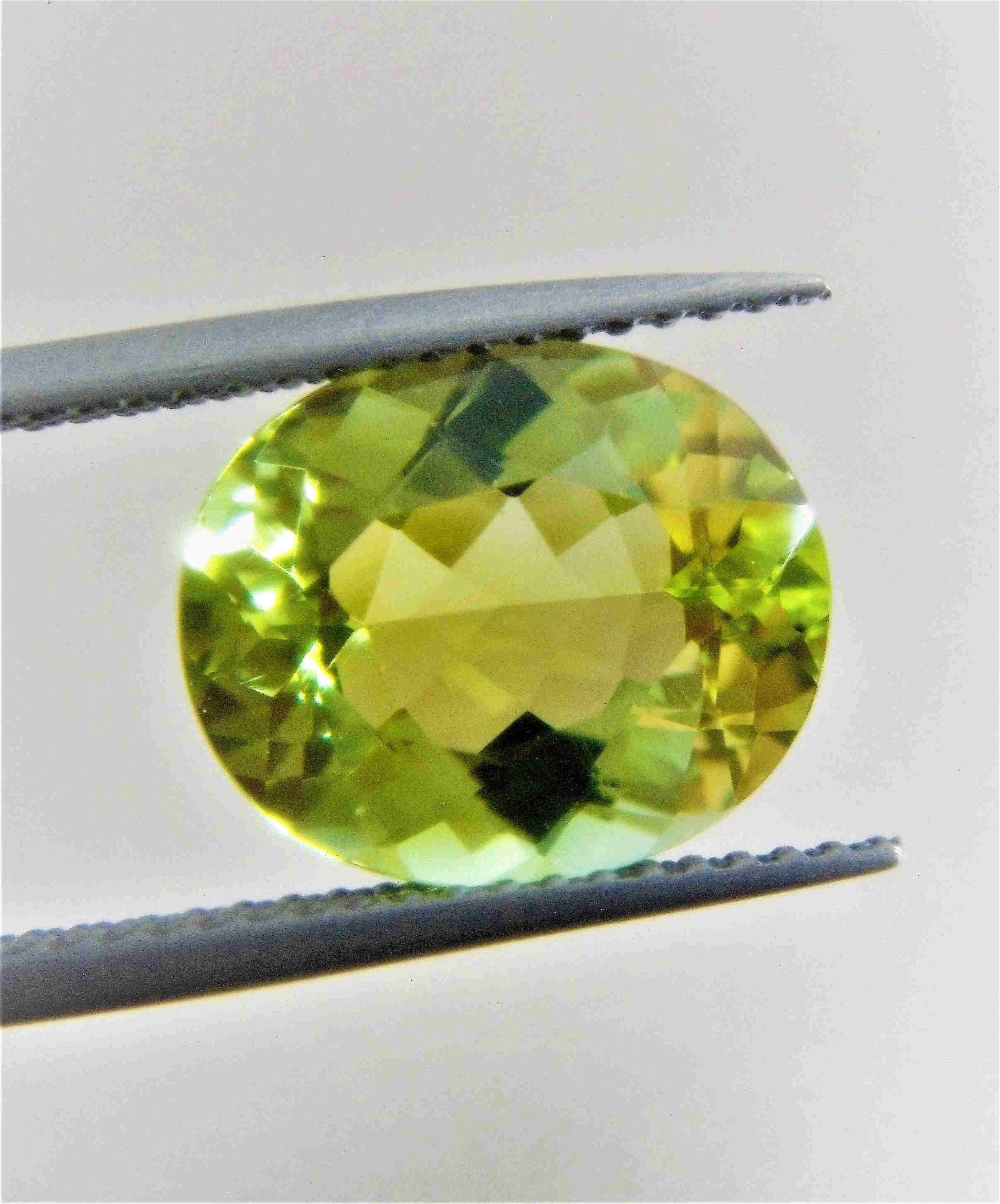 Green Tourmaline 10 x 12 MM Certified - 4.14 ct