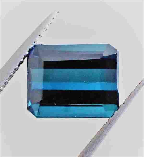 Indigolite Tourmaline Certified - 3.06 ct