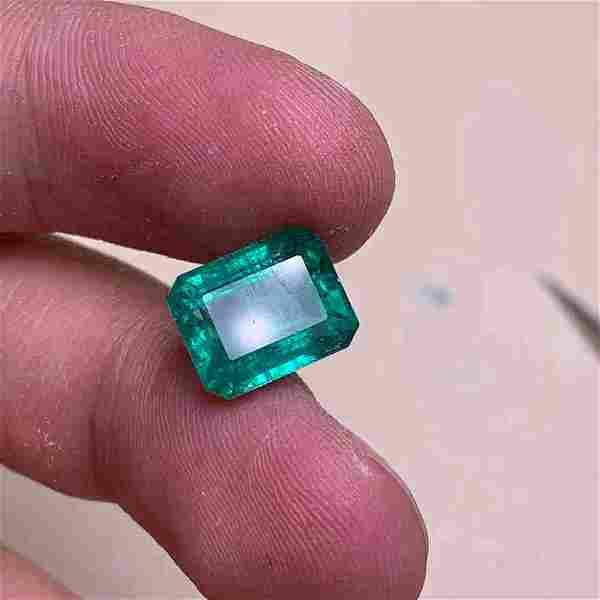 Natural Emerald Cut 5 Carats Emerald Loose Gemstone