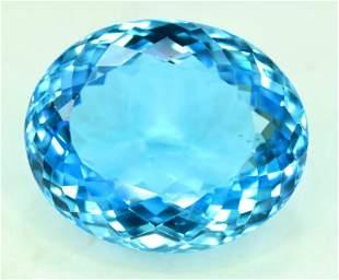 Blue Topaz Electric Gemstone topaz gemstone-34.15 cts-