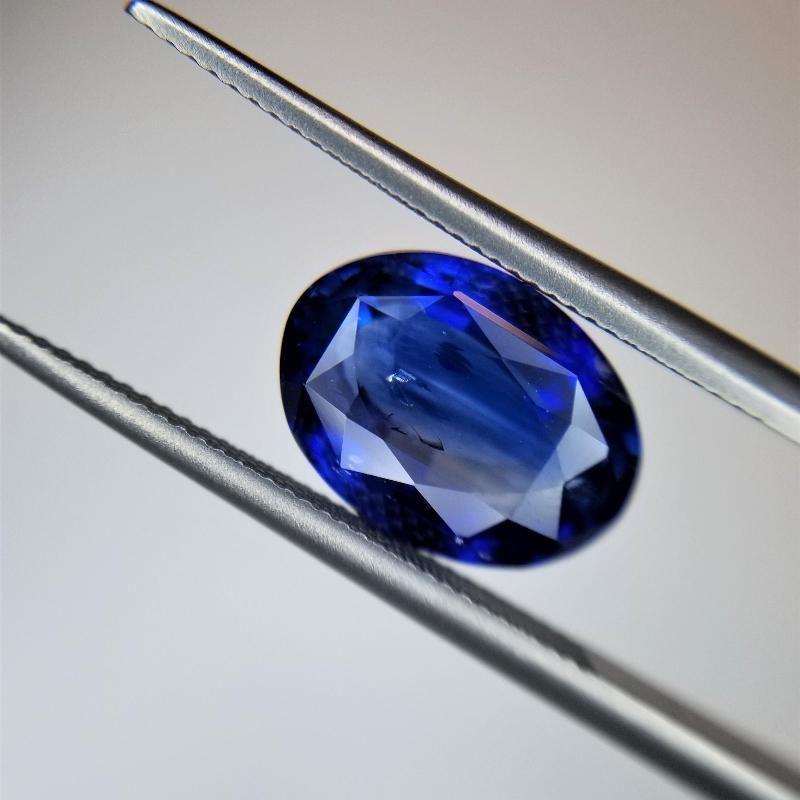 4.12 Ct Weight Oval Shaped Blue Color Berberyn