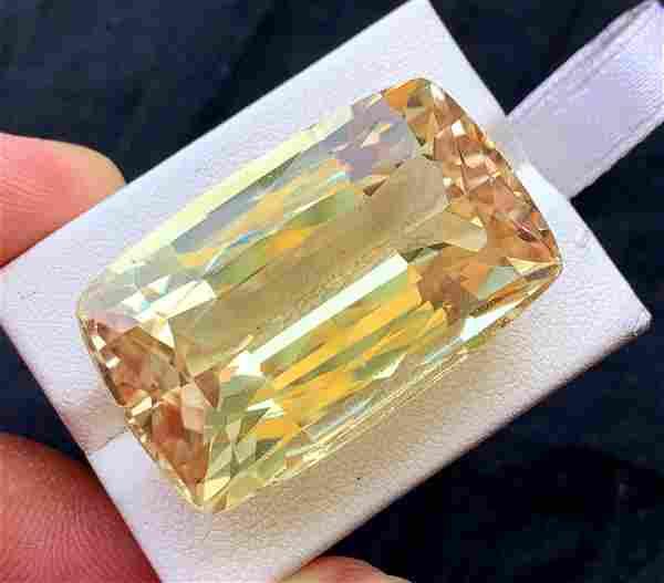Golden Peach Triphane Var Kunzite Loose Gemstone from