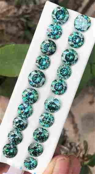 50 Carats Natural Moissanite Gemstone Lot