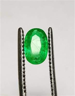 eautiful Emerald Oval - 0.85 Carats - 9X6X3 mm
