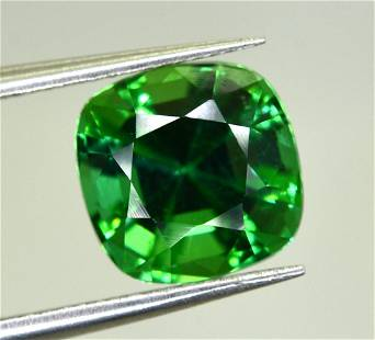 2 Carats Top Green Cushion Cut Tourmaline ~ 7x7x5 MM