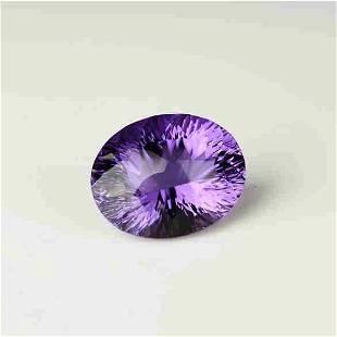 Natural Oval Cut 18.95 Carats Amethyst Loose Gemstone