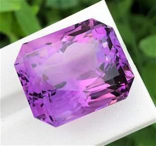 74 Carats Natural Fancy Cut Purple Amethyst ~ 26x22x19