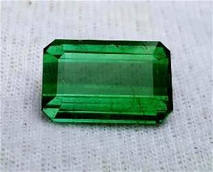 Stunning Natural AAA Green Tourmaline Cut Stone Chrome