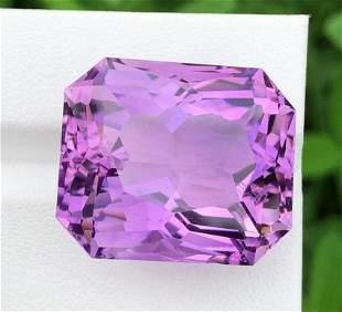 52 Carats Natural Fancy Cut Purple Amethyst ~ 24x20x16