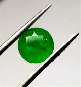 AA Quality Round Emerald Vivid Green - 2.15 Carats -