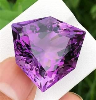 64 Carats Natural Purple Fancy Cut Amethyst ~ 28x27x19