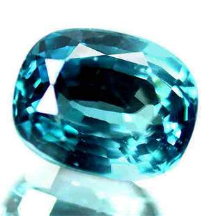 8.50 Cts Natural Blue Zircon