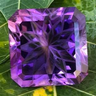 80 Carats Top Purple Fancy Flower Amethyst