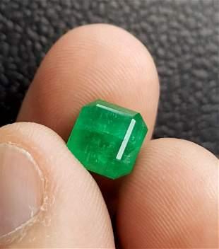 Emerald Cut Natural Emerald 2.05 Carats - 7X7X6 mm
