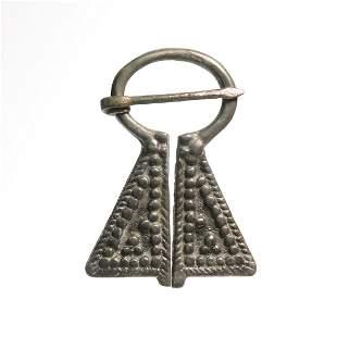 Viking Silver Omega Brooch, c. 8th-10th Century A.D.