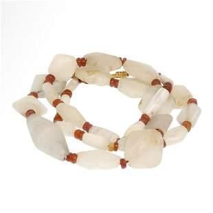 Mesopotamian Crystal and Cornelian Necklace