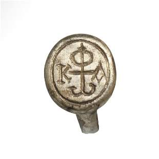 Roman-Byzantine Solid Silver Ring with Monogram