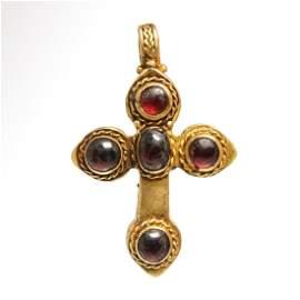 Byzantine Gold and Garnet Cross
