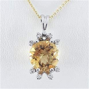 14K Yellow and White Gold - Necklace & Pendant Set