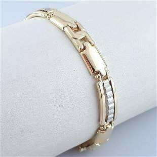 14K Yellow and White Gold - Bracelet