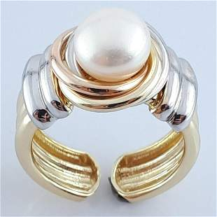 14K Yellow and White Gold - Ring