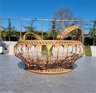 Wrought iron flower basket Garden flower baskets