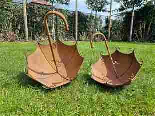 Special iron flower pots Umbrella flower baskets Lawn