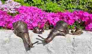 Snail family Bronze snail ornaments Patio & courtyard