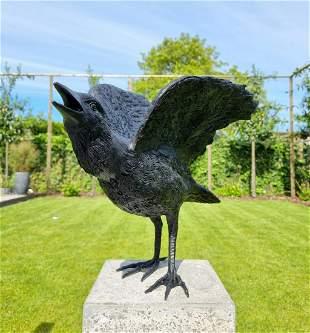 Lifelike Raven Bronze raven Bronze birds Bronze garden