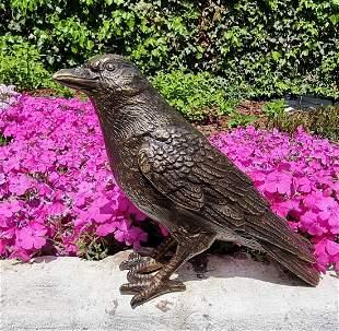 Lifelike bronze bird Garden statues Garden ornaments