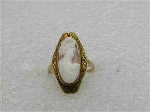 Vintage 10kt Cameo Ring, Sz. 3.5, 2.15 gr.