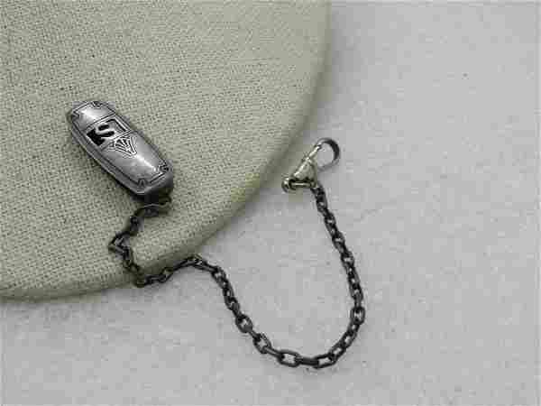 Vintage Sterling Hickok Beltogram with Clip, Initial S,
