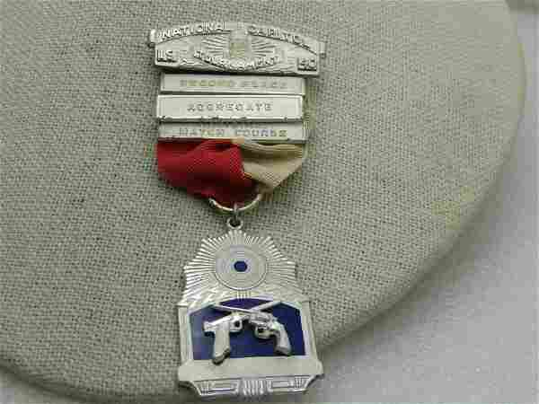 Vintage 1940 Sterling National Capitol Tournament Medal