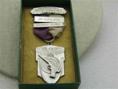 1946 Sterling Sparrows Point Police Shooting Medal with