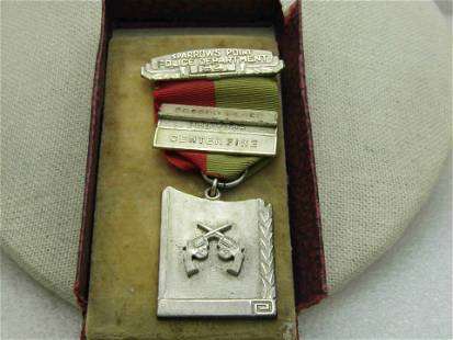 1941 Sterling Sparrows Point Police Shooting Medal with