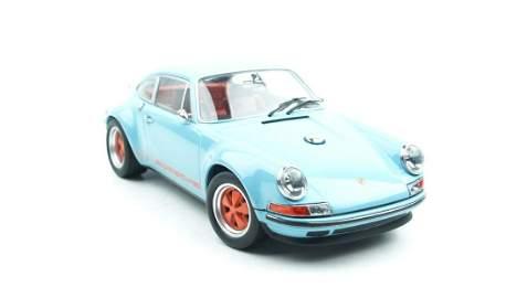 KK Scale Singer Porsche 911 Coupe Gulf Blue 1:18
