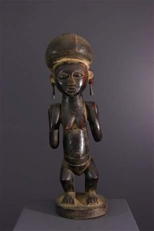 Luba Mikisi wood figure - DRC Congo - African Art